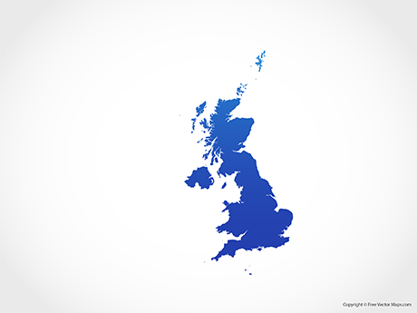 Free Vector Map of United Kingdom - Blue
