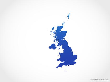 Map of United Kingdom - Blue