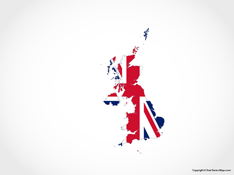 Free Vector Map of United Kingdom - Flag