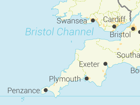 Vector Map of United Kingdom with Regions