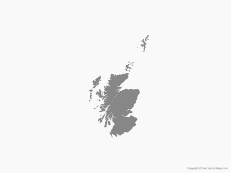 Free Vector Map of Scotland - Single Color