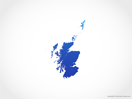 Free Vector Map of Scotland - Blue