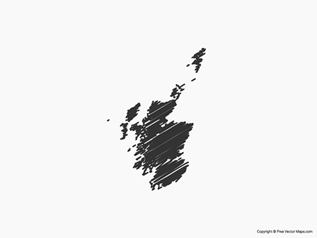 Free Vector Map of Scotland - Sketch