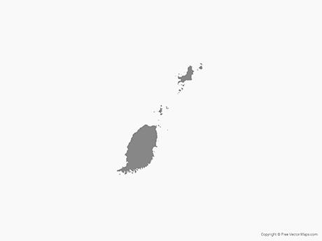 Free Vector Map of Grenada - Single Color