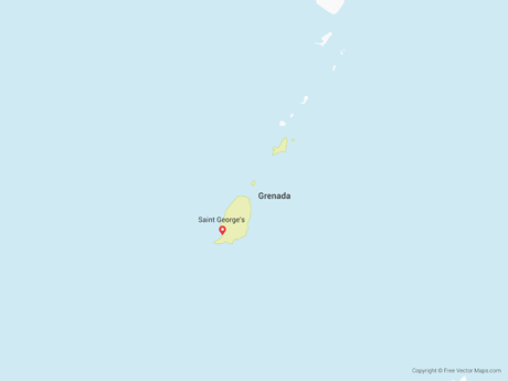 Free Vector Map of Grenada