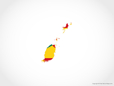 Free Vector Map of Grenada - Flag
