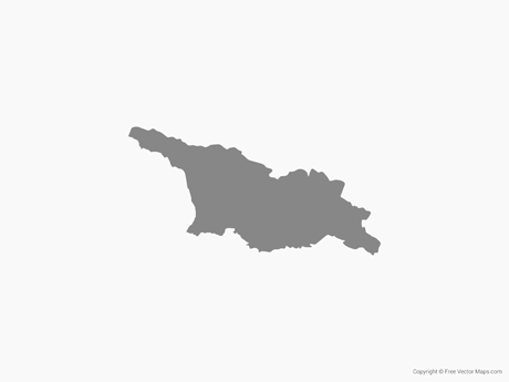Free Vector Map of Georgia - Single Color