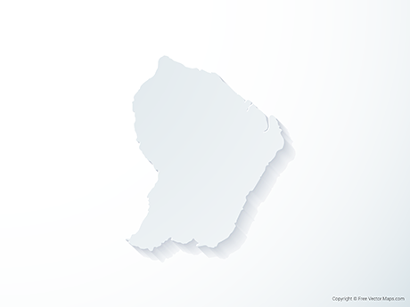 Free Vector Map of French Guiana - 3D