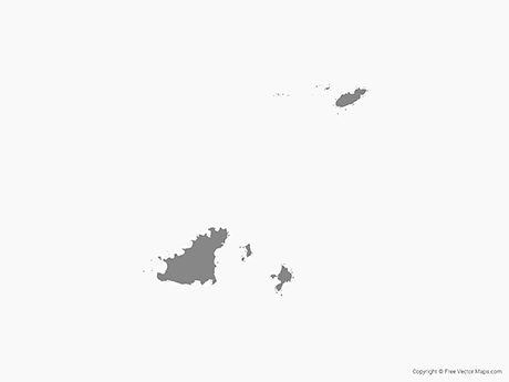 Free Vector Map of Guernsey - Single Color