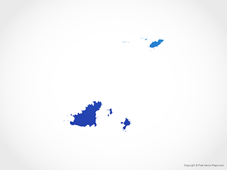 Free Vector Map of Guernsey - Blue