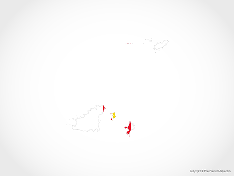 Free Vector Map of Guernsey - Flag
