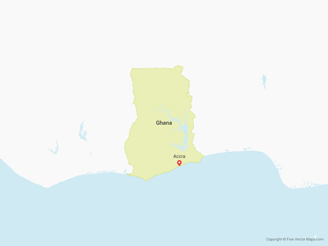 Free Vector Map of Ghana