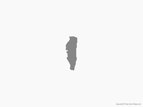 Free Vector Map of Gibraltar - Single Color