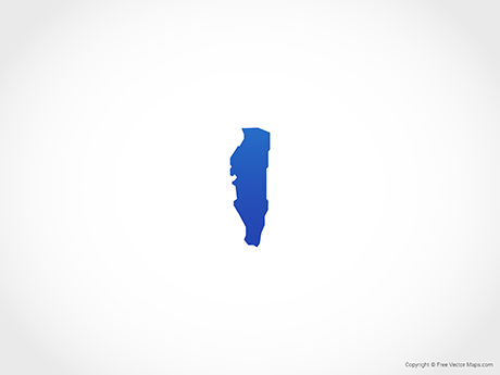 Free Vector Map of Gibraltar - Blue