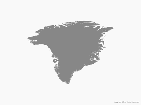 Free Vector Map of Greenland - SIngle Color