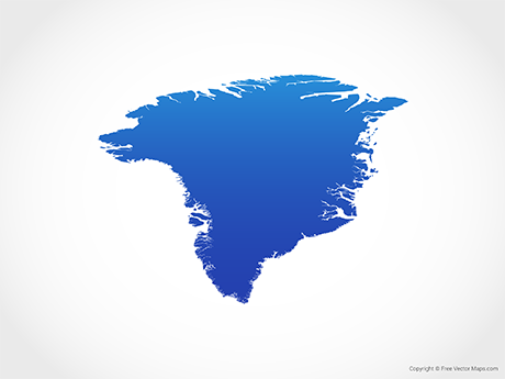 Free Vector Map of Greenland - Blue
