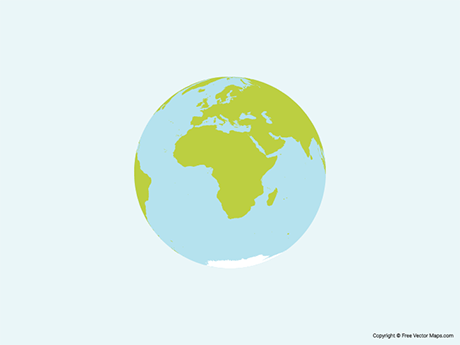 Free Vector Map of Globe of Africa