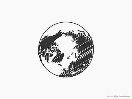 Free Vector Map of Globe of Arctic - Sketch
