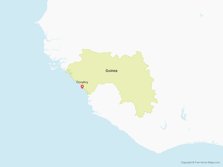 Free Vector Map of Guinea