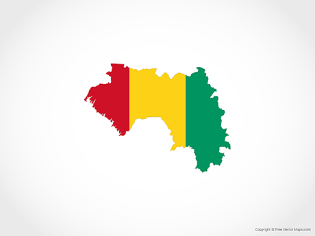 Free Vector Map of Guinea - Flag
