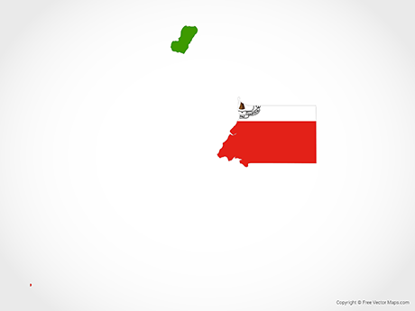Free Vector Map of Equatorial Guinea - Flag