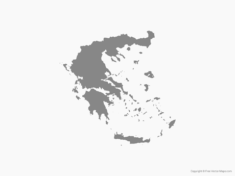 Free Vector Map of Greece - Single Color