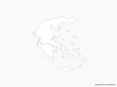 Map of Greece - Outline