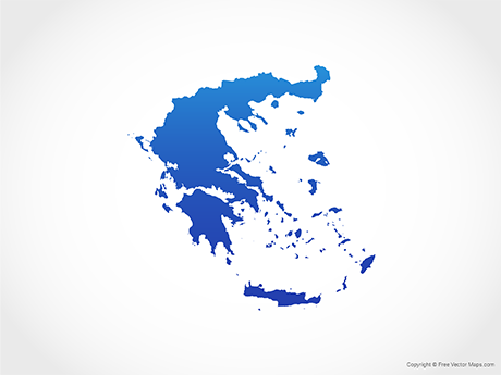 Free Vector Map of Greece - Blue