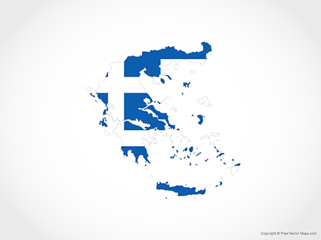 Free Vector Map of Greece - Flag