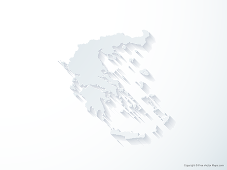 Free Vector Map of Greece - 3D