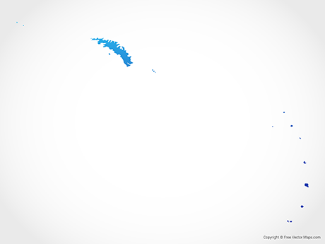 Free Vector Map of South Georgia and the South Sandwich Islands - Blue