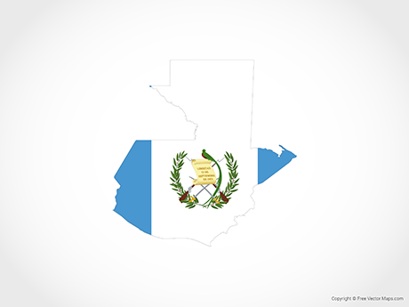 Free Vector Map of Guatemala - Flag