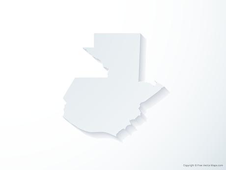 Free Vector Map of Guatemala - 3D