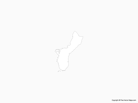 Map of Guam - Outline
