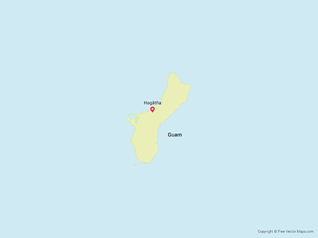 Free Vector Map of Guam