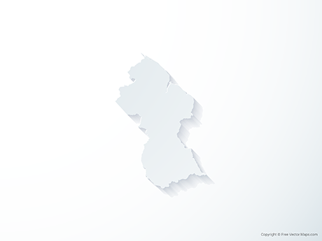 Free Vector Map of Guyana - 3D