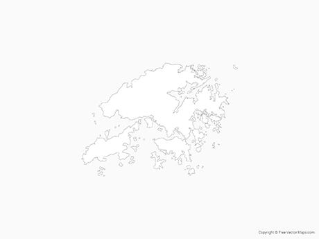 Free Vector Map of Hong Kong - Outline