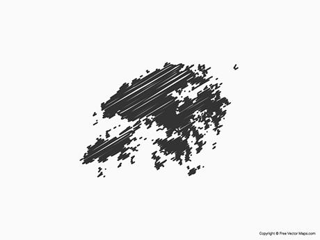 Free Vector Map of Hong Kong - Sketch