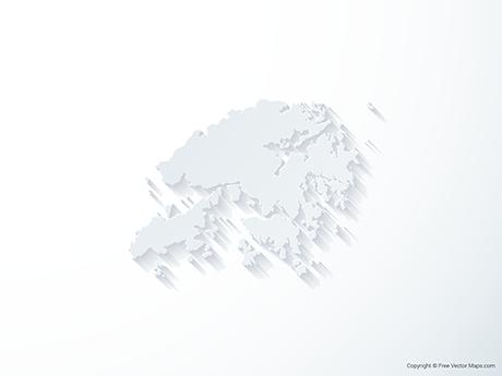 Free Vector Map of Hong Kong - 3D