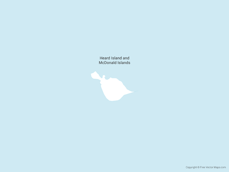 Free Vector Map of Heard Island and McDonald Islands