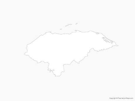 Free Vector Map of Honduras - Outline
