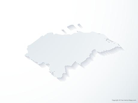 Free Vector Map of Honduras - 3D