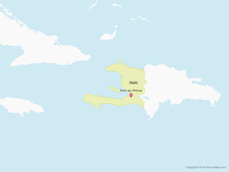 Free Vector Map of Haiti