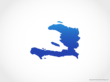 Free Vector Map of Haiti - Blue