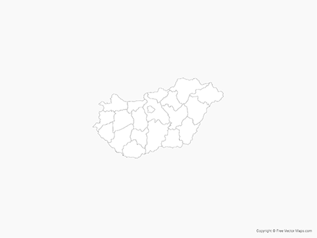 Free Vector Map of Hungary with Administrative Divisions - Outline
