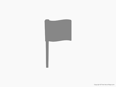 Map of Flag Pin