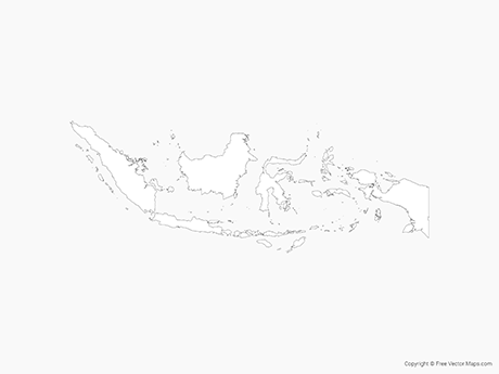 Free Vector Map of Indonesia - Outline