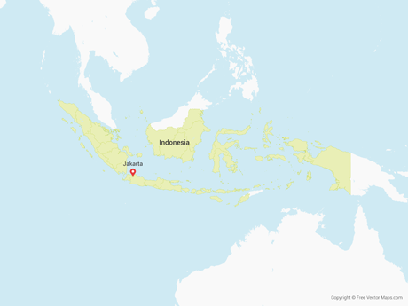 Free Vector Map of Indonesia with Provinces