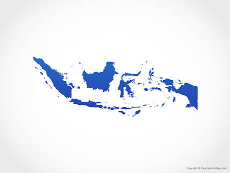 Map of Indonesia - Blue