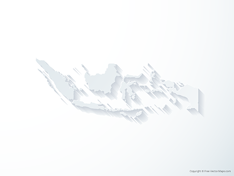 Free Vector Map of Indonesia - 3D